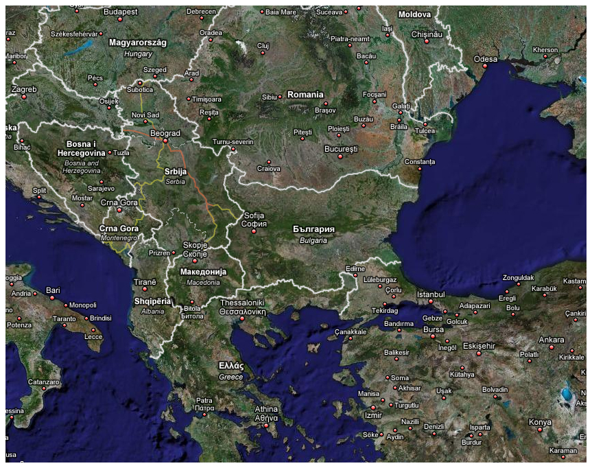 Image result for balkans satellite